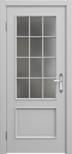 Межкомнатная дверь SK011 (эмаль серая / матовое стекло)