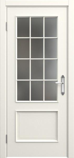 Межкомнатная дверь SK011 (эмаль слоновая кость / матовое стекло)