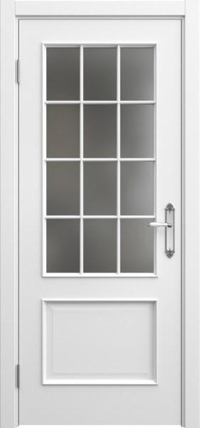 Межкомнатная дверь SK011 (эмаль белая / матовое стекло)