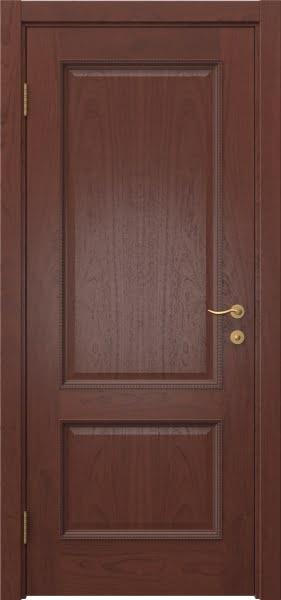 Межкомнатная дверь SK014 (шпон красное дерево / глухая)