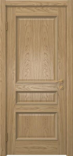 Межкомнатная дверь SK015 (натуральный шпон дуба / глухая)