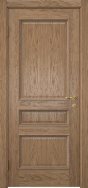 Межкомнатная дверь SK015 (шпон дуб светлый / глухая)