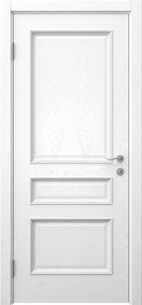 Межкомнатная дверь SK015 (шпон ясень белый / глухая)