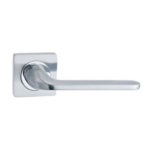 Ручка дверная V13L (ЦАМ, матовый хром)