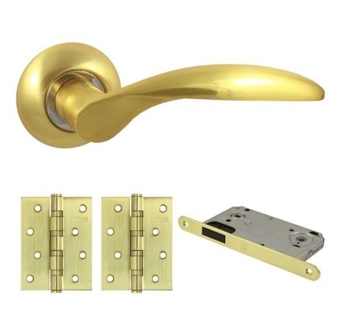 Комплект фурнитуры V20C-B4 (ЦАМ, матовое золото)