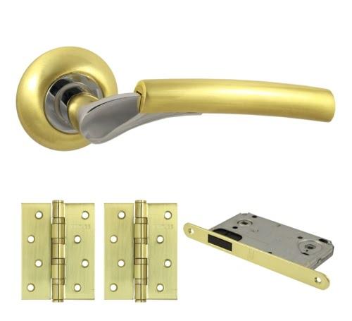 Комплект фурнитуры V21C-B4 (ЦАМ, матовое золото)