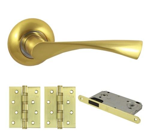 Комплект фурнитуры V23C-AL-B4 (алюминий, матовое золото)