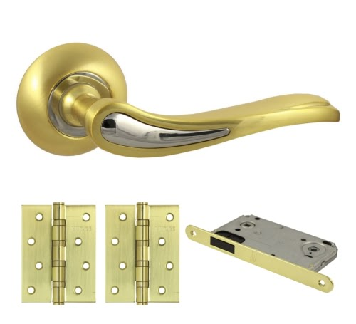 Комплект фурнитуры V64C-AL-B4 (алюминий, матовое золото)