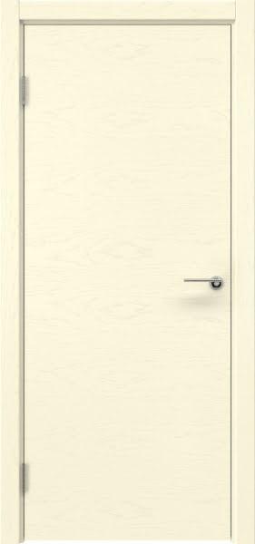 Межкомнатная дверь ZK001 (шпон ясень ваниль / глухая)