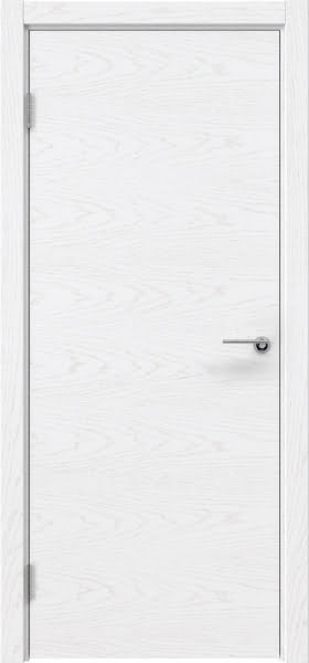 Межкомнатная дверь ZK001 (шпон ясень белый, глухая)