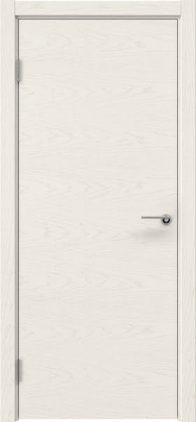 Межкомнатная дверь ZK001 (шпон ясень слоновая кость, глухая)