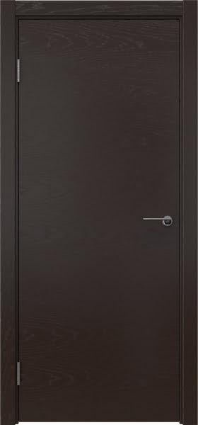 Межкомнатная дверь ZK001 (шпон ясень темный, глухая)