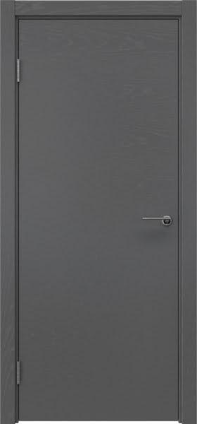 Межкомнатная дверь ZK001 (шпон ясень серый, глухая)