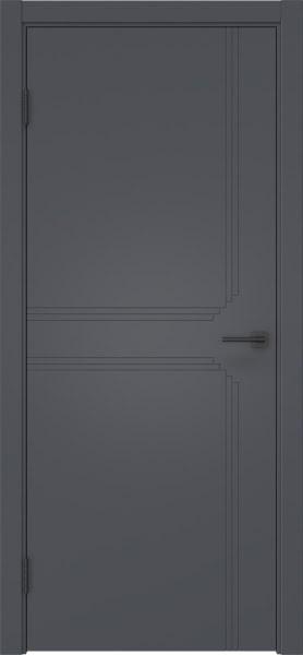 Межкомнатная дверь ZK008 (эмаль серая, глухая)