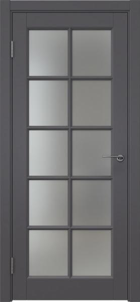 Межкомнатная дверь ZK010 (эмаль графит, матовое стекло)