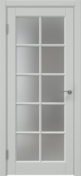Межкомнатная дверь ZK010 (эмаль светло-серая, матовое стекло)