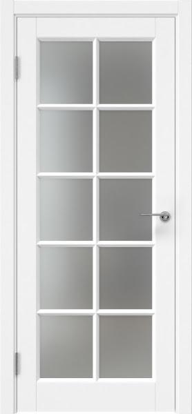 Межкомнатная дверь ZK010 (эмаль белая, матовое стекло)