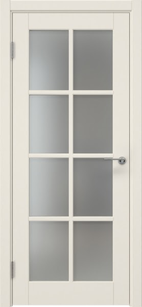 Межкомнатная дверь ZK012 (эмаль слоновая кость, матовое стекло)