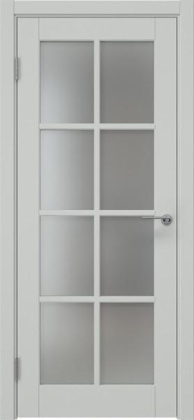 Межкомнатная дверь ZK012 (эмаль светло-серая, матовое стекло)
