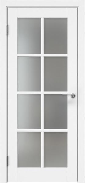 Межкомнатная дверь ZK012 (эмаль белая, матовое стекло)