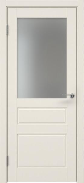 Межкомнатная дверь ZK013 (эмаль слоновая кость, матовое стекло)