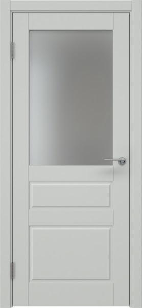 Межкомнатная дверь ZK013 (эмаль светло-серая, матовое стекло)