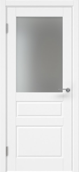 Межкомнатная дверь ZK013 (эмаль белая, матовое стекло)