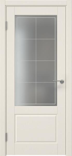 Межкомнатная дверь ZK014 (эмаль слоновая кость, матовое стекло)