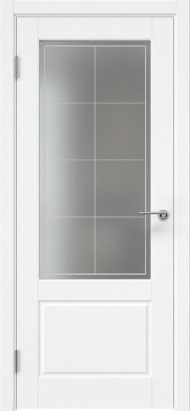 Межкомнатная дверь ZK014 (эмаль белая, матовое стекло)