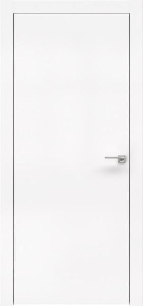 Межкомнатная дверь ZM001 (экошпон белый / глухая)
