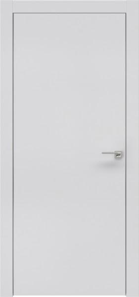 Межкомнатная дверь ZM001 (экошпон светло-серый / глухая)