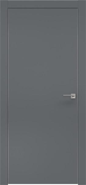 Межкомнатная дверь ZM001 (экошпон «графит» / глухая)