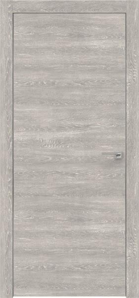 Межкомнатная дверь ZM001 (экошпон «серый дуб патина» / глухая)