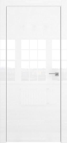 Межкомнатная дверь ZM001 (белая глянцевая, глухая)