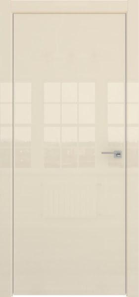Межкомнатная дверь ZM001 (ваниль глянцевая, глухая)