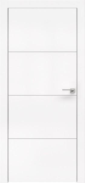 Межкомнатная дверь ZM002 (экошпон белый / глухая)