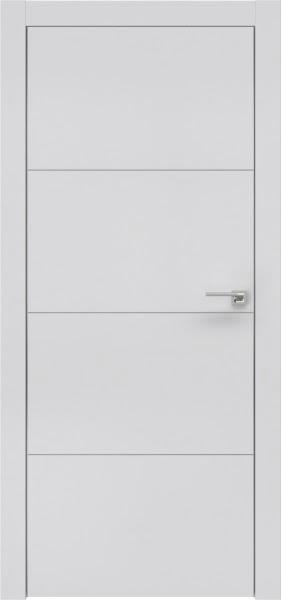 Межкомнатная дверь ZM002 (экошпон светло-серый / глухая)