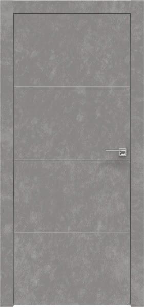 Межкомнатная дверь ZM002 (экошпон «бетон» / глухая)