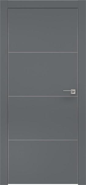 Межкомнатная дверь ZM002 (экошпон «графит» / глухая)