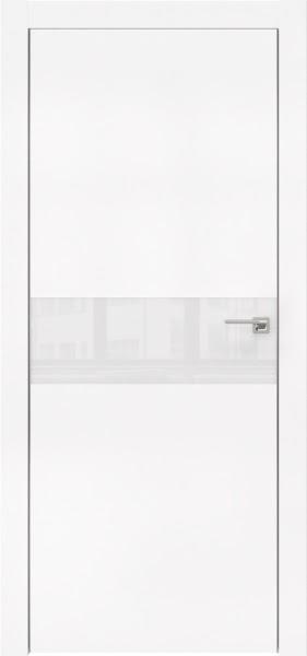 Межкомнатная дверь ZM003 (экошпон белый / лакобель белый)