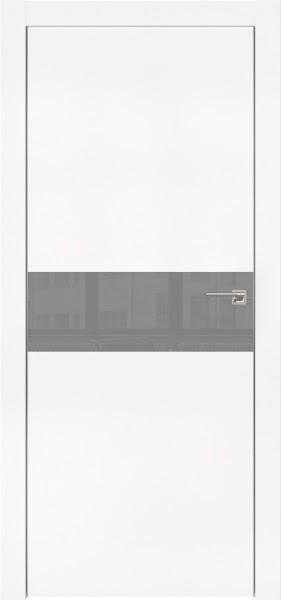 Межкомнатная дверь ZM003 (экошпон белый / лакобель серый)