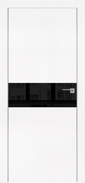 Межкомнатная дверь ZM003 (экошпон белый / лакобель черный)
