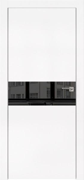 Межкомнатная дверь ZM003 (экошпон белый / зеркало тонированное)