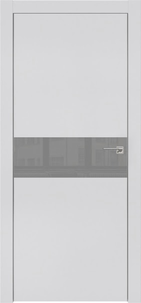 Межкомнатная дверь ZM003 (экошпон светло-серый / лакобель серый)