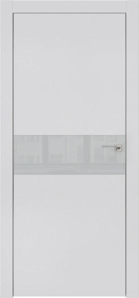Межкомнатная дверь ZM003 (экошпон светло-серый / лакобель светло-серый)
