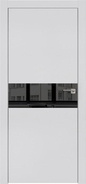 Межкомнатная дверь ZM003 (экошпон светло-серый / зеркало тонированное)