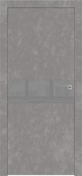 Межкомнатная дверь ZM003 (экошпон «бетон» / лакобель серый)