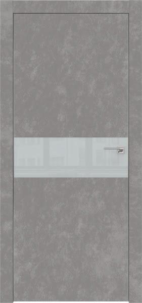 Межкомнатная дверь ZM003 (экошпон «бетон» / лакобель светло-серый)