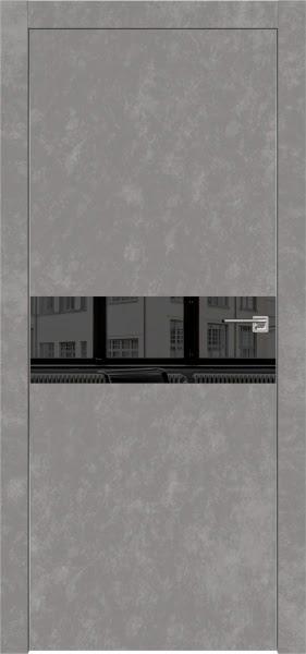 Межкомнатная дверь ZM003 (экошпон «бетон» / зеркало тонированное)