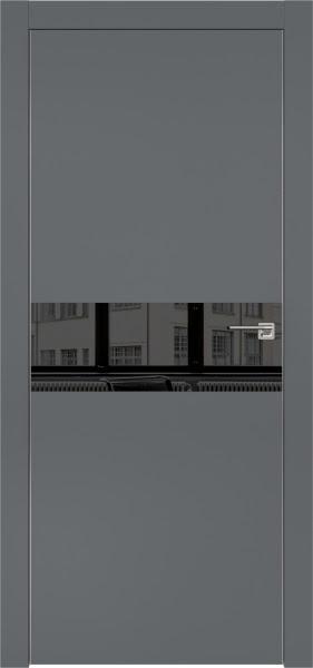 Межкомнатная дверь ZM003 (экошпон «графит» / зеркало тонированное)